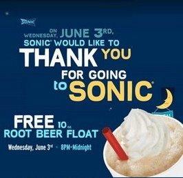 Free Root Beer Float!
