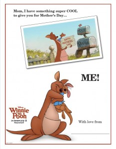 Winnie the Pooh Printable Mother's Day Card!