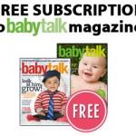 Free Subscription to Babytalk Magazine!