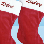 Affordable Embroidered Christmas Stocking!