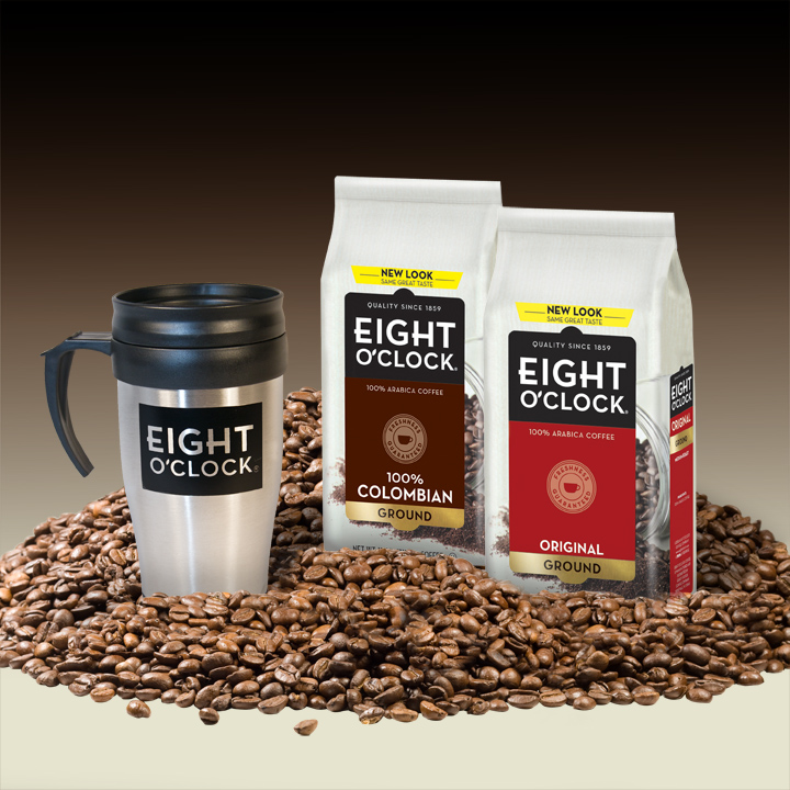 Eight O'Clock Coffee 2Bags&MugPhoto
