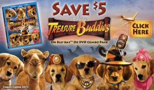Treasure Buddies on BD/DVD Combo Pack, Coupon plus Crafts & Activities