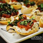 Roasted Tomato, Goat Cheese and Feta Bruschetta Recipe #WhollySalsa