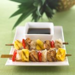 Del Monte Gold® Extra Sweet Pineapple Coupon! Pineapple Chicken Kabobs #Recipe