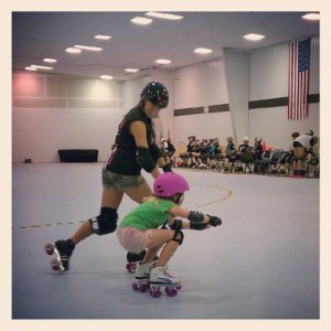 Tiny Terror, A.K.A Emma and Jr. Roller Derby!
