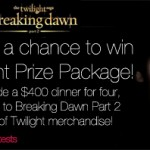 Breaking Dawn Part 2 Giveaway