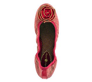 Lindsay Phillips Liz Red Canvas Ballet Flats