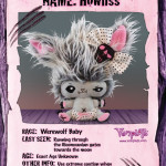 Mysterious Ghost Pony, Pedigreed Vampyre Kitten and Fuzzy Werewolf Baby…