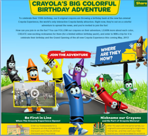 WIN a Trip for 4 to the Grand Opening of the all new Crayola Experience!