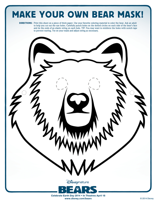 Make Your Own Bear Mask Free Printable Not So Average Mama