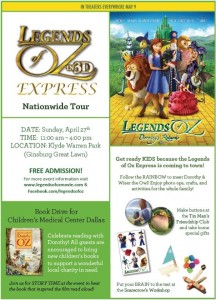 "THE ""LEGENDS OF OZ EXPRESS"" IS COMING TO DALLAS"