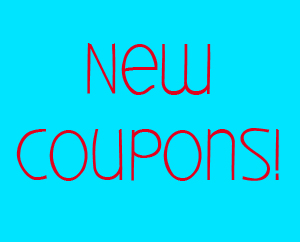 New Coupons for Wednesday!