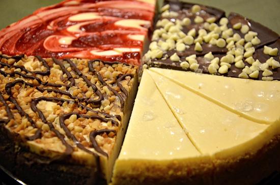 honeybaked cheesecake sampler