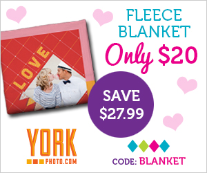 York Photo, $20 Fleece Photo Blanket #Deal