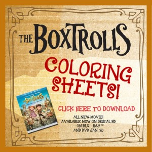 The Boxtrolls! Printable Maze and Printable Coloring Sheets