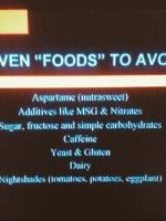 foods to avoid with RSD/CRPS