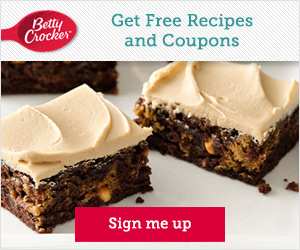 Free Betty Crocker Recipes and Coupons!