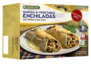 CedarLane's NEW Quinoa & Vegetable Enchiladas