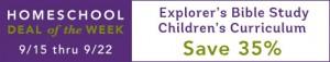 Explorer's Bible Study Children's Curriculum Sale