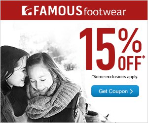 Famous Footwear 15% OFF Printable Coupon