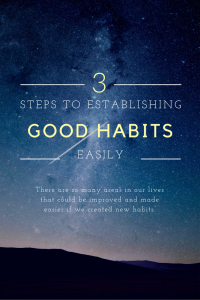 3 Steps to Establishing Good Habits