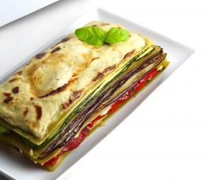 Green Lentil Vegetable Lasagne for Two