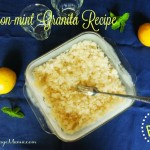 Lemon-mint Granita Recipe, Paleo!