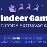 Swag Code Extravaganza: Reindeer Games!