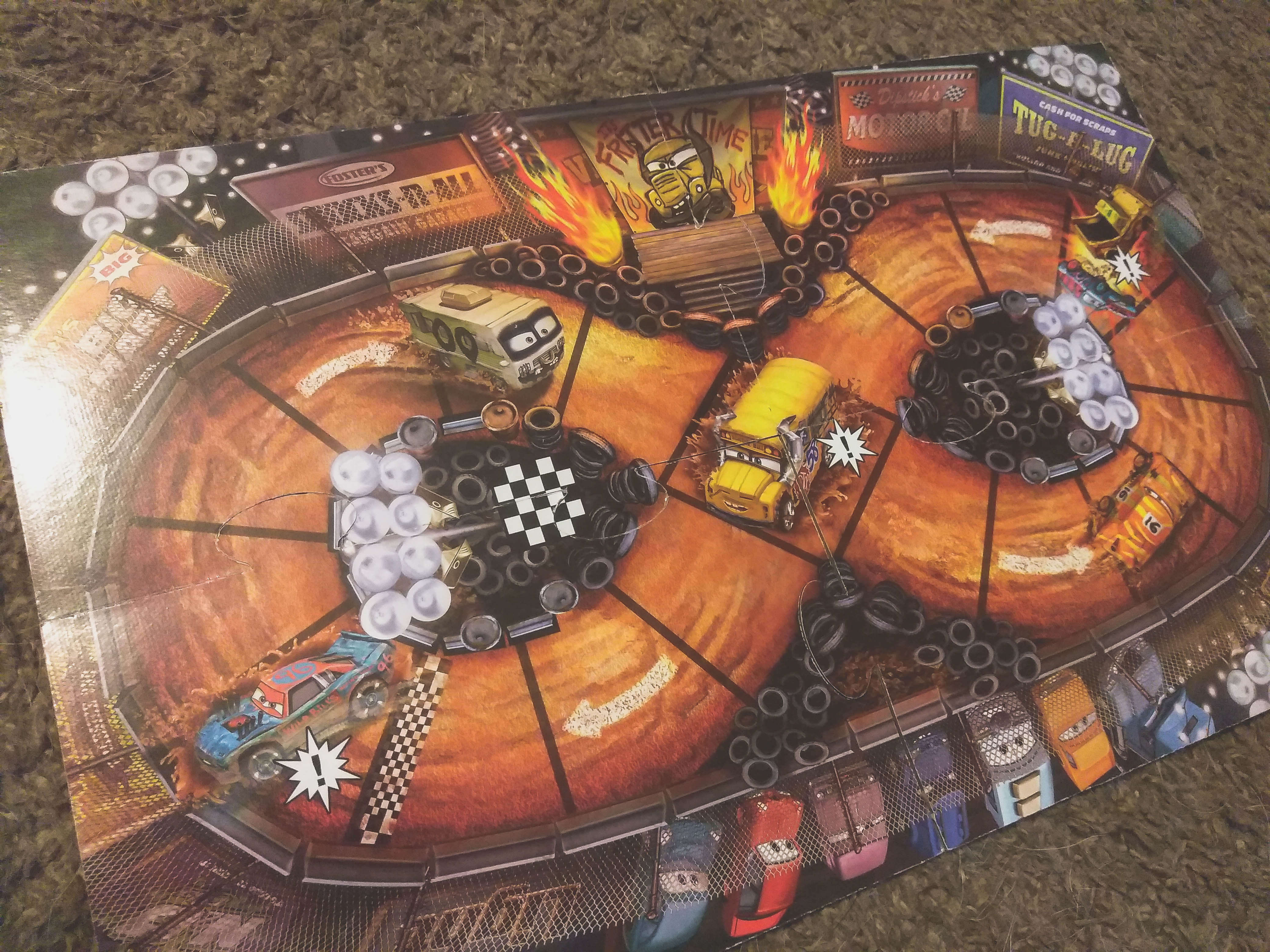 Family game night with cars 3 thunder hollow mud madness not so average mama - Coloriage cars 3 thunder hollow ...