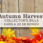 Autumn Harvest Collector's Bills – get bonuses for searching the web