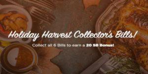 Holiday Harvest Collectors Bills