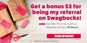 Get $3 when you sign up for Swagbucks in December (US)