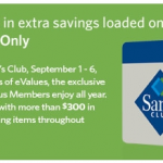 eValues for ALL Sam's Club Members! Limited Time!