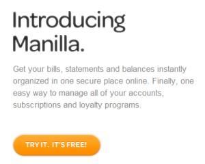 Manilla, Free Online Account & Bill Organizer