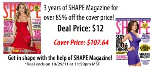 3 year subscription to SHAPE Magazine for only $12!