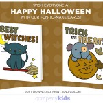 Free Downloadable Halloween Cards Company Kids!
