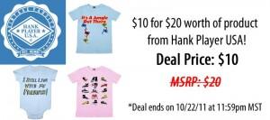 Half Off at Graphic Tees at Hank Player USA, Great Gift Idea!