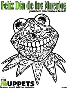 Kermit Day of the Dead Coloring Page!