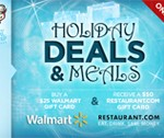 Buy a $25 Walmart Gift Card and receive a $50 Restaurant.com Gift Card!