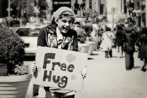 Free Hugs in New York! #TheAvengersEvent