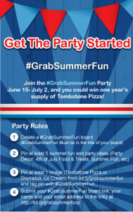 Win a Years Worth of Tombstone Pizza!  #GrabSummerFun Pinterest Party