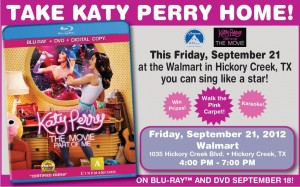 KATY PERRY DVD Release Party!  Hickory Creek Walmart!