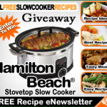 Hamilton Beach Slow Cooker Giveaway!