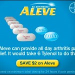 $2.00 Off any Aleve 40ct or larger!  Coupon!