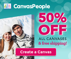 Canvas People, 50% Off All Canvases Plus FREE Shipping!