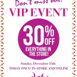 Dots' Holiday Gift, A One-Day Sale of 30% Off Everything!