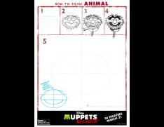 How to Draw Animal from the Muppets!  Free Printable!
