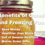 4 Benefits of Canning and Freezing #Homesteading