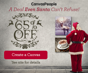 Canvas People has 65% Off All Canvases + Guaranteed Christmas Delivery!