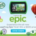 LeapFrog Epic Sweepstakes